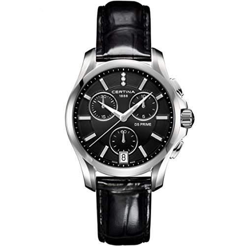 Certina Damen-Armbanduhr Chronograph Quarz Leder C0042171605600