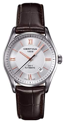 Certina Herren-Armbanduhr XL Analog Automatik Leder C0064071603801