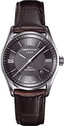 Certina Herren-Armbanduhr XL Analog Automatik Leder C0064071608800