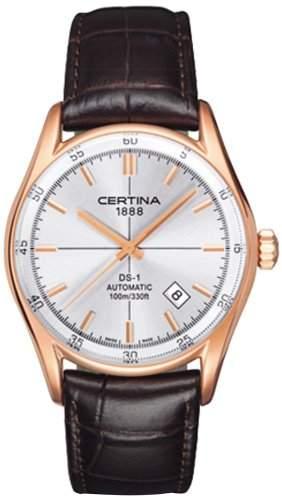 Certina Herren-Armbanduhr XL Analog Automatik Leder C0064073603100