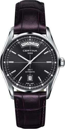 Certina Herren-Armbanduhr XL Analog Automatik Leder C0064301608100