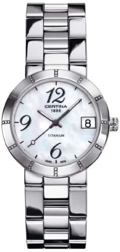 Certina Damen-Armbanduhr XS Analog Quarz Titan C0092104411200