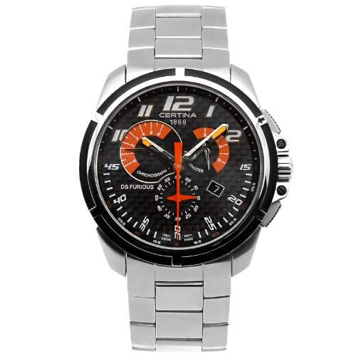 Certina DS Furious Herren-Armbanduhr Armband Edelstahl + Gehaeuse Saphirglas Batterie C0114172120200