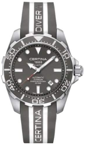 Certina Herren-Armbanduhr XL Analog Automatik Kautschuk C0134074708101