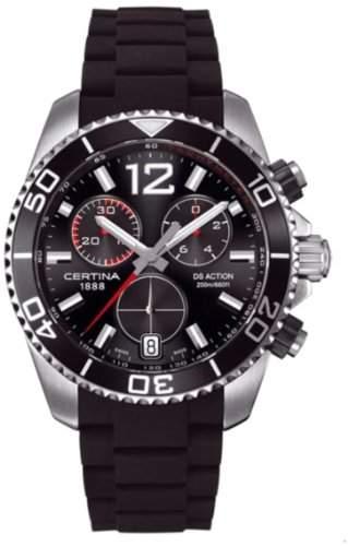 Certina Herren-Armbanduhr XL Chronograph Quarz Kautschuk C0134171705700