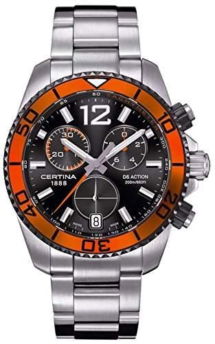 Certina Herren-Armbanduhr XL Chronograph Quarz Edelstahl C0134172105701