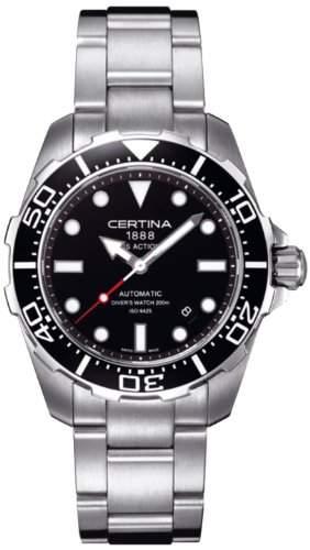 Certina Herren-Armbanduhr XL Analog Automatik Edelstahl C0134071105100