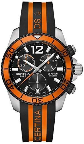 Certina Herren-Armbanduhr XL Chronograph Quarz Kautschuk C0134172705701