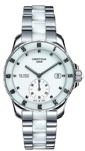 Certina Damen-Armbanduhr XS Analog Quarz Edelstahl C0142351101101