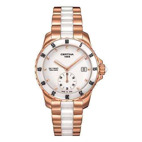 Certina Damen-Armbanduhr XS Analog Quarz Edelstahl beschichtet C0142353301100