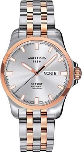 Certina Herren-Armbanduhr XL Analog Automatik Edelstahl C0144072203100