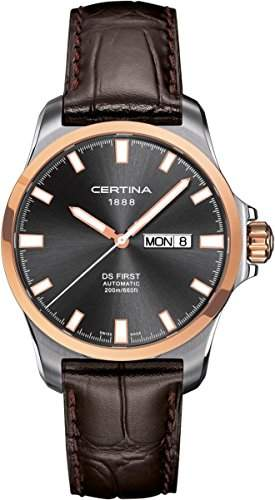 Certina Herren-Armbanduhr XL Analog Automatik Leder C0144072608100