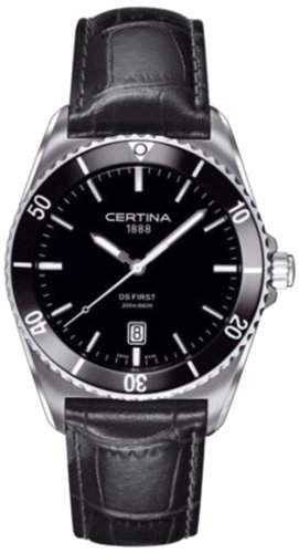 Certina Herren-Armbanduhr XL Analog Quarz Leder C0144101605100
