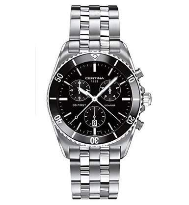 Certina Herren-Armbanduhr XL Chronograph Quarz Edelstahl C0144171105100