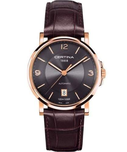 Certina Damen-Armbanduhr XS Analog Automatik Leder C0172073608700