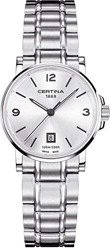 Certina Damen-Armbanduhr XS Analog Quarz Edelstahl C0172101103700