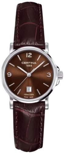 Certina Damen-Armbanduhr XS Analog Quarz Leder C0172101629700
