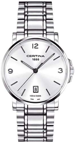 Certina Herren-Armbanduhr XL Analog Quarz Edelstahl C0174101103700