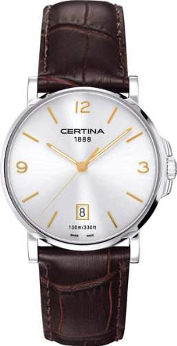 Certina Herren-Armbanduhr XL Analog Quarz Leder C0174101603701