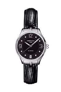 Certina Damen-Armbanduhr XS Analog Quarz Leder C0212101605600