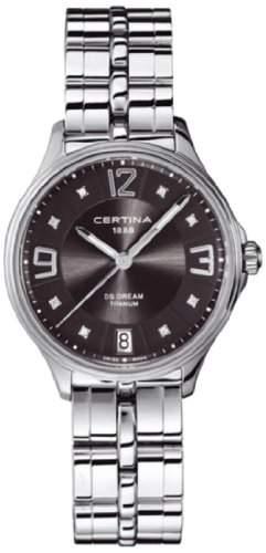 Certina Damen-Armbanduhr XS Analog Quarz Edelstahl C0212104408600