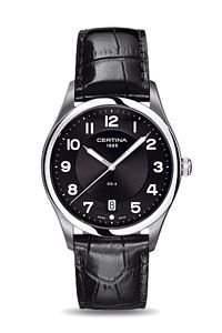 Certina Herren-Armbanduhr XL Analog Quarz Leder C0224101605000