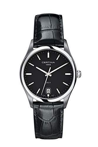 Certina Herren-Armbanduhr XL Analog Quarz Leder C0226101605100