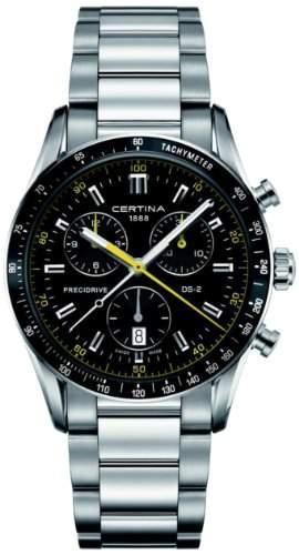Certina Herren-Armbanduhr XL Chronograph Quarz Edelstahl C0244471105101