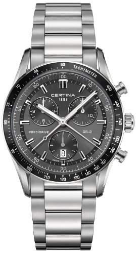 Certina Herren-Armbanduhr XL Chronograph Quarz Edelstahl C0244471108100