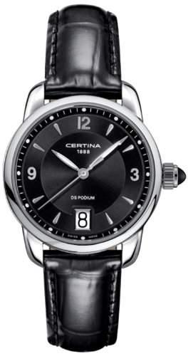 Certina Damen-Armbanduhr XS Analog Quarz Leder C0252101605700