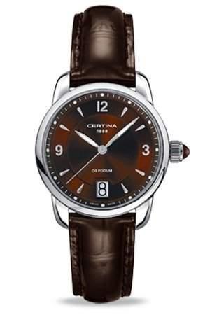 Certina Damen-Armbanduhr XS Analog Quarz Leder C0252101629700