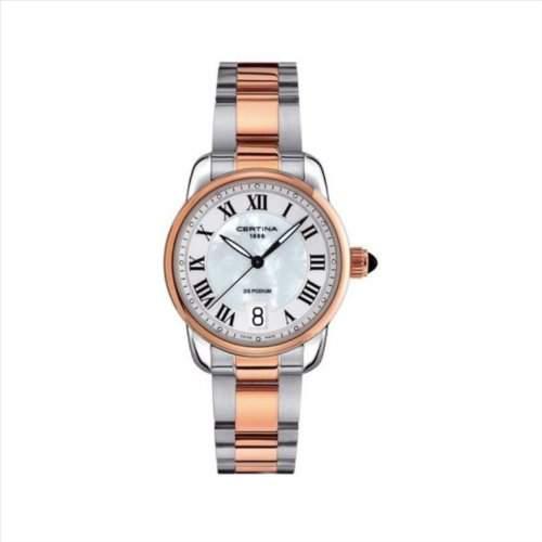 Certina Damen-Armbanduhr XS Analog Quarz Edelstahl C0252102211800