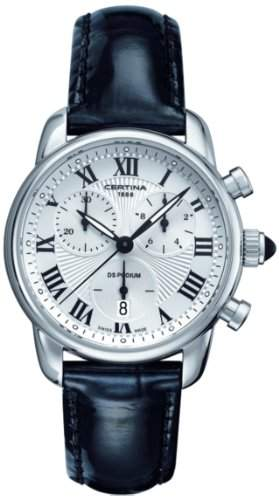 Certina Damen-Armbanduhr XS Chronograph Quarz Leder C0252171601800