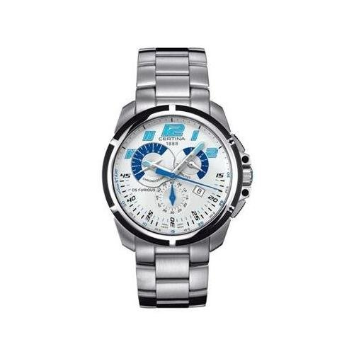 Certina Chronograph Silber delstahl Armband Gehaeuse Datum Uhr C0114172103200