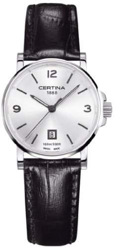 Certina Damen-Armbanduhr XS Analog Quarz Leder C0172101603700
