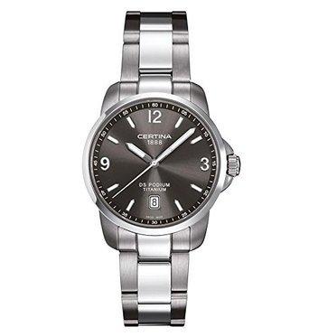 Certina Herren Armbanduhr XL Analog Quarz Edelstahl C001 410 44 087 00