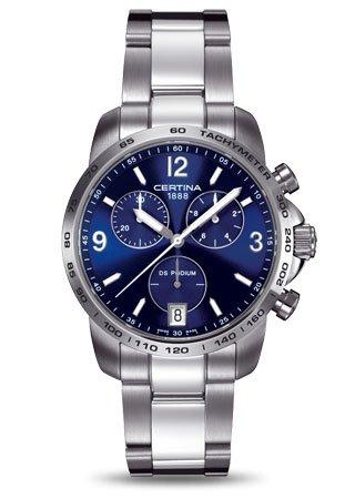 Certina Herren Armbanduhr XL Chronograph Quarz Edelstahl C001 417 11 047 00