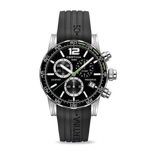 Certina DS Sport Herren Armbanduhr Armband Silikon Schwarz Gehaeuse Edelstahl Batterie C027 417 17 057 01