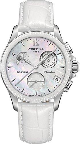 Certina DS First Lady Keramik Chrono Mondphase C030 250 16 106 00 Damenchronograph Klassisch schlicht