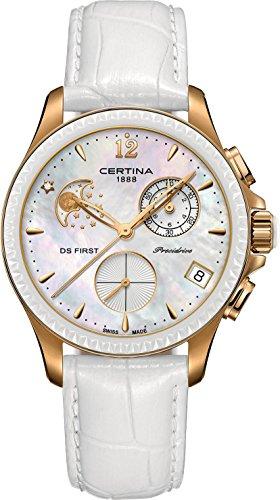 Certina DS First Lady Keramik Chrono Mondphase C030 250 36 106 00 Damenchronograph Klassisch schlicht