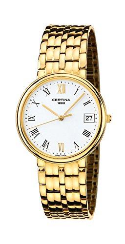 Certina Swiss Time Maker 18kt Gold Mens Watch White Dial Calendar C158 9539 68 24