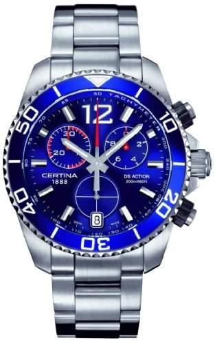 Certina Herren-Armbanduhr XL Chronograph Quarz Edelstahl C0134171104700