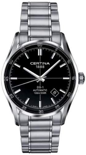 Certina Herren-Armbanduhr XL Analog Automatik Edelstahl C0064071105100