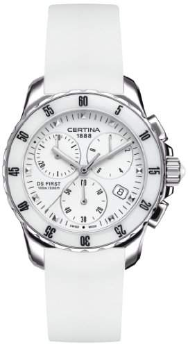 Certina Damen-Armbanduhr XS Chronograph Quarz Kautschuk C0142171701100