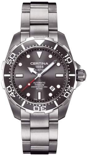 Certina Herren-Armbanduhr XL Analog Automatik Titanium C0134074408100