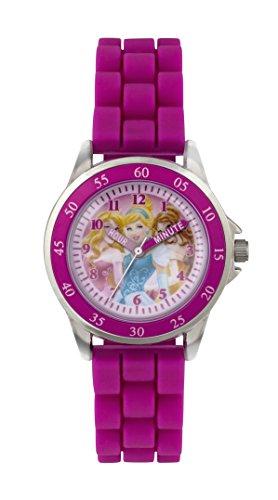 Prinzessin Maedchen Quarz Uhr mit rosa Zifferblatt Time Teacher Display und Pink Gummi Strap pn1078