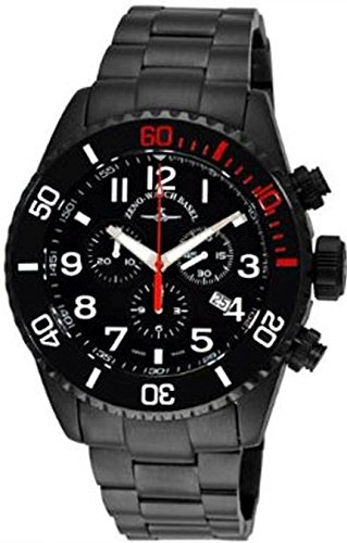 Zeno Watch Diver Ceramic Chrono black red 6492 5030Q bk a1 7M