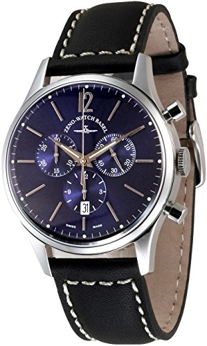 Zeno Watch Event Gentleman Chronograph 43 blue Q 6564 5030Q i4