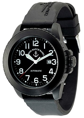 Zeno Watch Jumbo Biker Automatic black 6412 bk a1