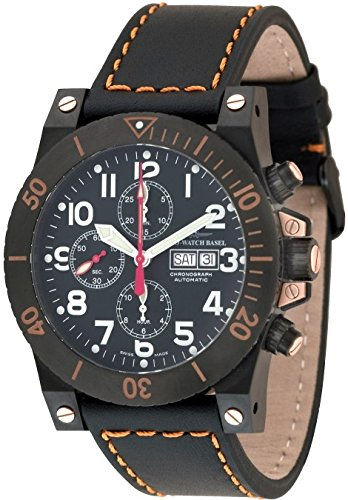 Zeno Watch Muscle Chronograph black 8023TVDD bk a1